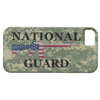 Guardia Nacional Camo verde del iPhone 5 Funda Para iPhone 5 Barely There