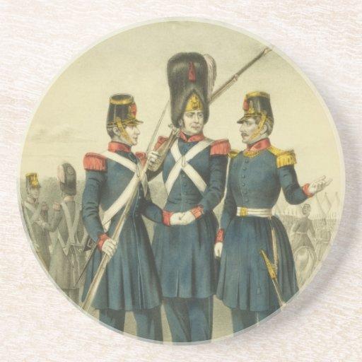 Guardia Nacional de California en 1846 Posavasos Personalizados