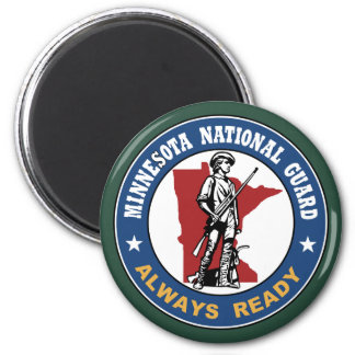 Guardia Nacional de Minnesota Imán Redondo 5 Cm