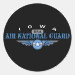 Guardia Nacional del aire de Iowa Pegatina Redonda