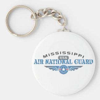 Guardia Nacional del aire de Mississippi Llavero Redondo Tipo Pin