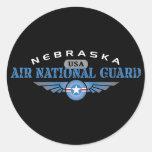 Guardia Nacional del aire de Nebraska Pegatinas Redondas