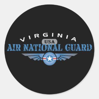 Guardia Nacional del aire de Virginia Etiquetas Redondas