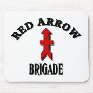 Guardia Nacional rojo de Wisconsin de la brigada Mousepad