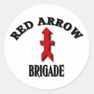 Guardia Nacional rojo de Wisconsin de la brigada Pegatina Redonda