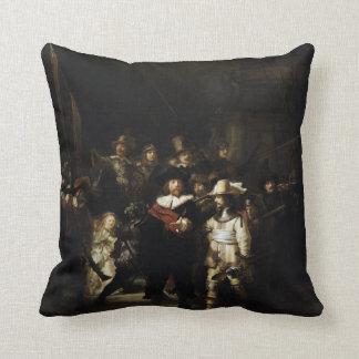 Guardia nocturna de Rembrandt Cojín