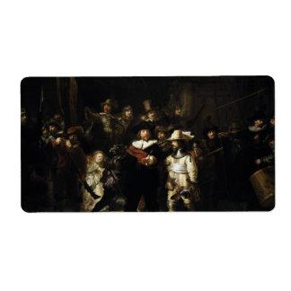 Guardia nocturna de Rembrandt Etiquetas De Envío