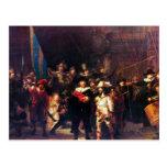 Guardia nocturna de Rembrandt Harmenszoon van Rijn Tarjeta Postal