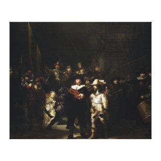 Guardia nocturna de Rembrandt Lienzo Envuelto Para Galerías
