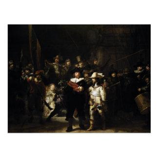 Guardia nocturna de Rembrandt Postal