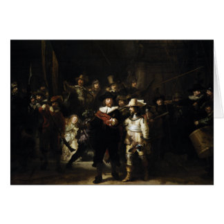 Guardia nocturna de Rembrandt Tarjeta De Felicitación