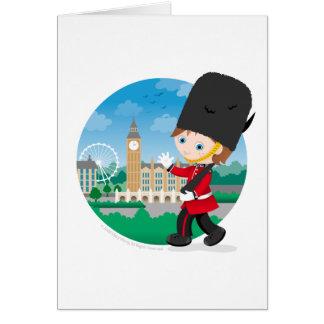 Guardia real británico tarjeta de felicitación
