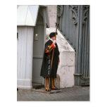 Guardia suizo en el uniforme diseñado por Miguel Á Postal