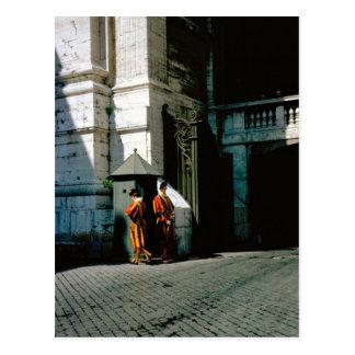 Guardia suizo en el Vatican Postal