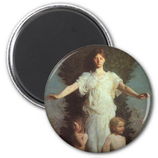 Guardian Angel 2 Inch Round Magnet