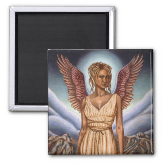 Guardian Angel: 2 Inch Square Magnet