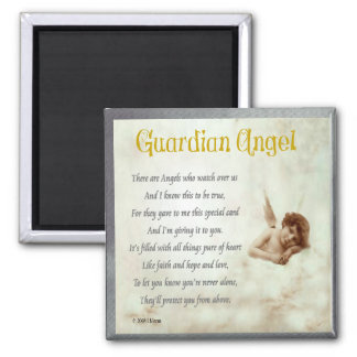 Guardian Angel 2 Inch Square Magnet