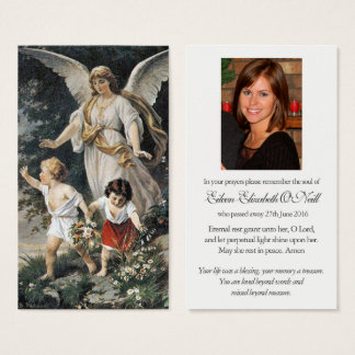 Guardian Angel 3 Funeral Sympathy Prayer Card