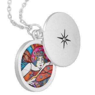 Guardian Angel Achaiah Round Locket Necklace