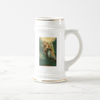 Guardian Angel And Baby Jesus Beer Stein