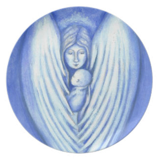 Guardian Angel and Baby Plate