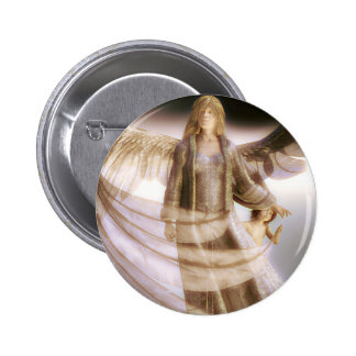 Guardian Angel and Child 2 Inch Round Button