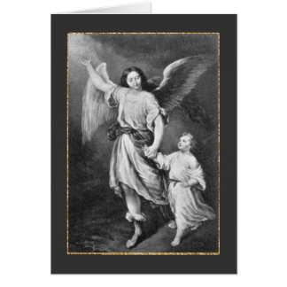 Guardian Angel And Child Greeting Card