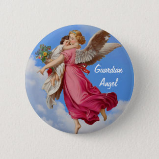 Guardian Angel And Child Inspirational Button