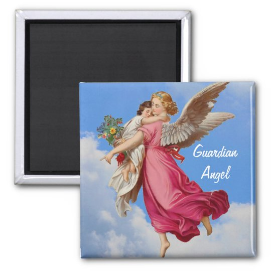Guardian Angel And Child Inspirational Magnet