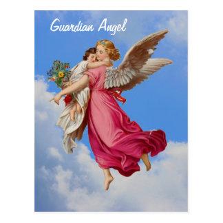 Guardian Angel And Child Inspirational Postcard