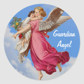 Guardian Angel And Child Inspirational Sticker