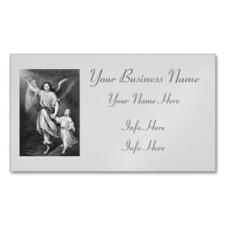 Guardian Angel And Child Magnetic Business Card