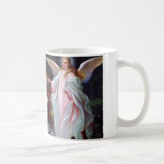 Guardian angel and children on bridge coffee mugs