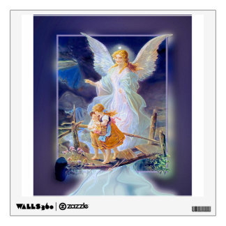 Guardian Angel and Children Wall Sticker