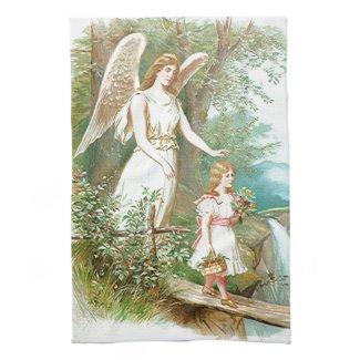 Guardian Angel And Girl Towel