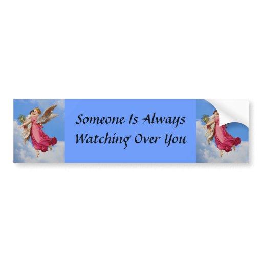 guardian angel and inspirational bumper sticker zazzle