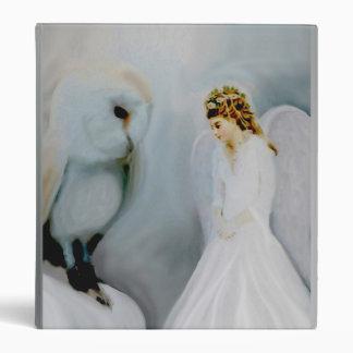 Guardian Angel and Owl Vinyl Binder