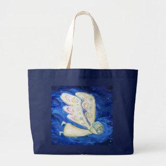 Guardian Angel and Sleeping Baby Custom Tote Bags