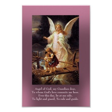 AmelianAngels Guardian Angel and Two Children Poster