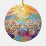 """Guardian"" Angel Art Christmas Tree Ornament"