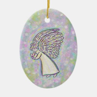 Guardian Angel Art Custom Holiday Gift Ornaments
