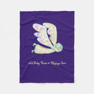 Guardian Angel Art Custom Soft Fleece Blanket