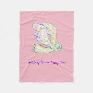 Guardian Angel Art Custom Soft Fleece Blankets