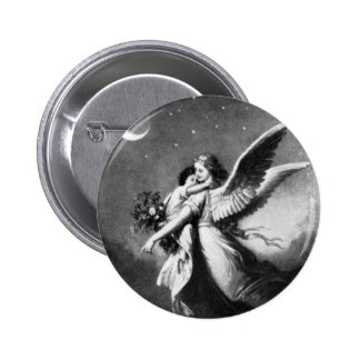 Guardian Angel At Night 2 Inch Round Button