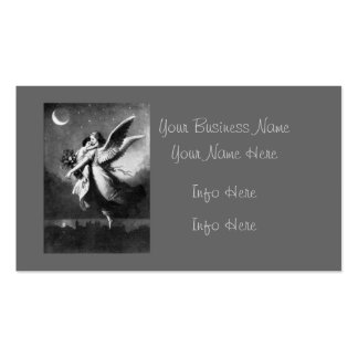 Guardian Angel At Night Business Card Template
