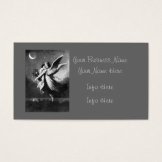 Guardian Angel At Night Business Card