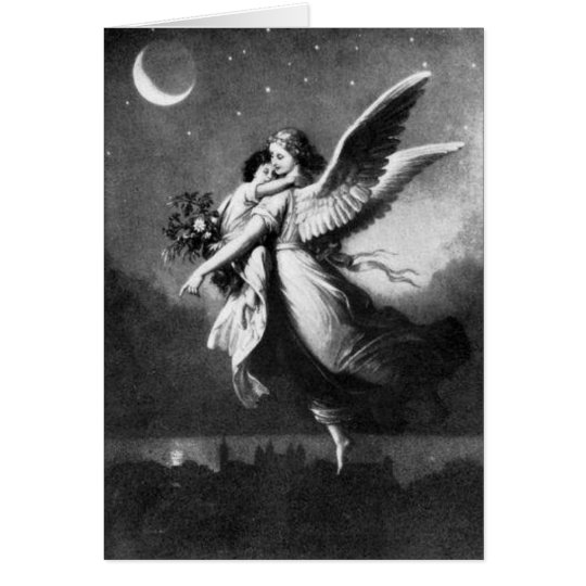 Guardian Angel At Night Card