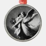 Guardian Angel At Night Metal Ornament