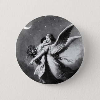 Guardian Angel At Night Pinback Button