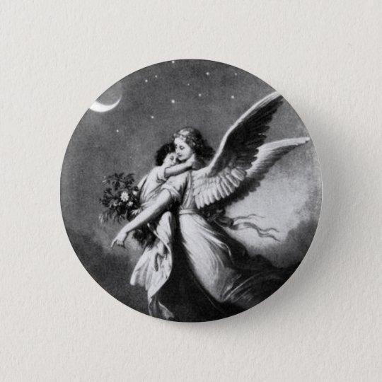 Guardian Angel At Night Pinback Button